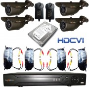 Kit de Seguridad 8Ch Camara 1080P HD-CVI Disco 3TB