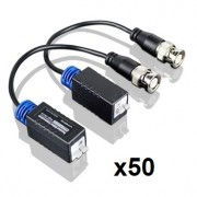 Kit Balun X50 UTP Mini Video Par Bornera Para AHD, CVI, TVI, Video Analogico