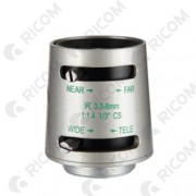 Lente Varifocal 3.3 a 8mm - Autoiris - Correccion IR