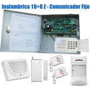 Kit Alarma inalambrica 16 Zonas con dispositivos